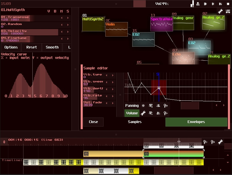 SunVox 8.7 (Скриншот 3)