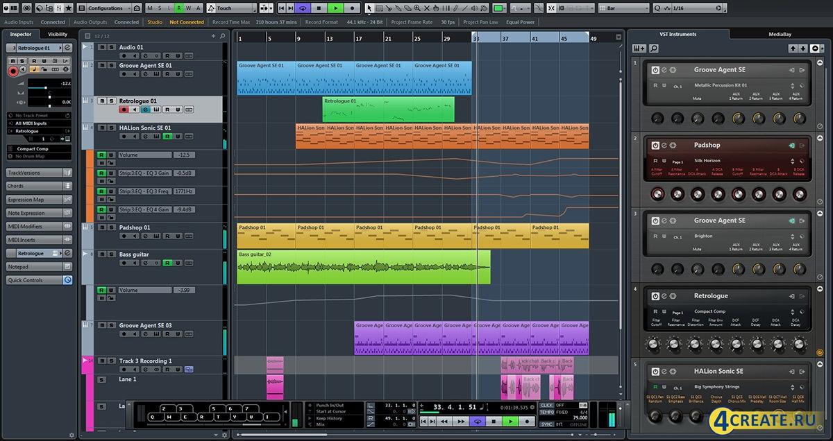 Cubase 8.0.2.0 (Скриншот 1)