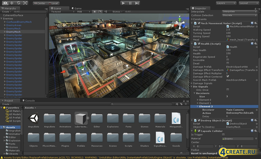 Unity 4 for Online drawing editor