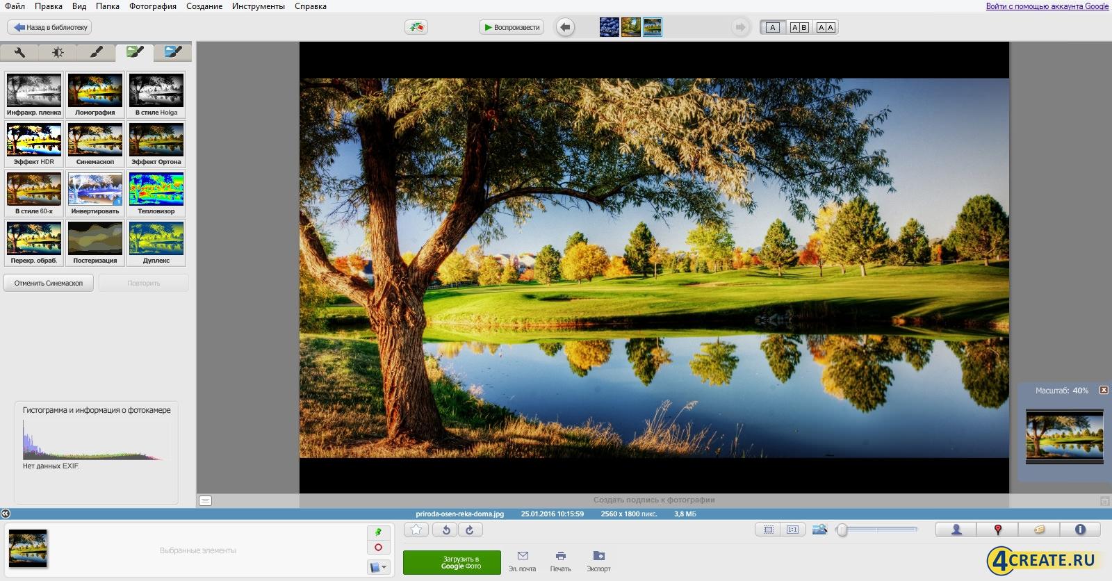 Picasa 3.9 (Скриншот 4)