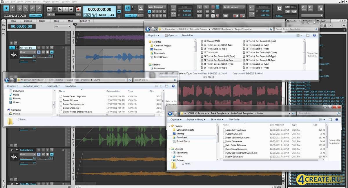 Cakewalk Sonar X3 (Скриншот 2)