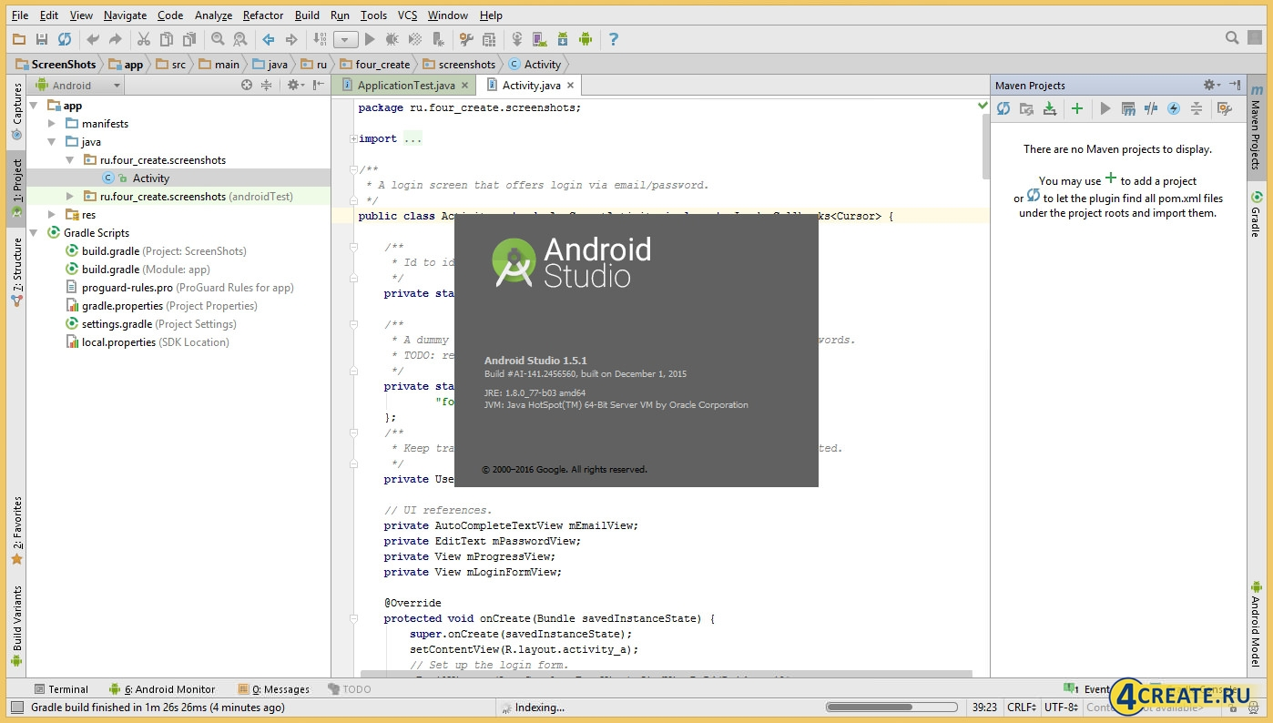 Android Studio 1.5 (Скриншот 4)
