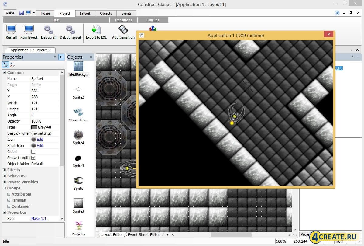 Construct Classic 1.2 (Скриншот 2)