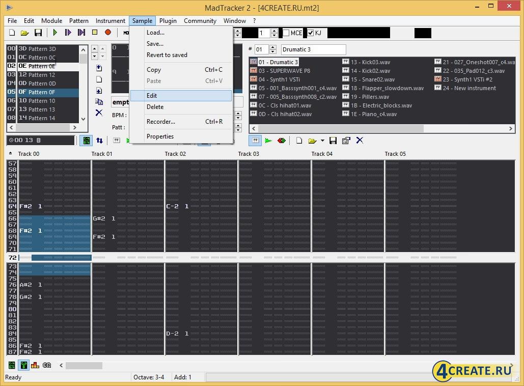 MadTracker 2.6 (Скриншот 4)