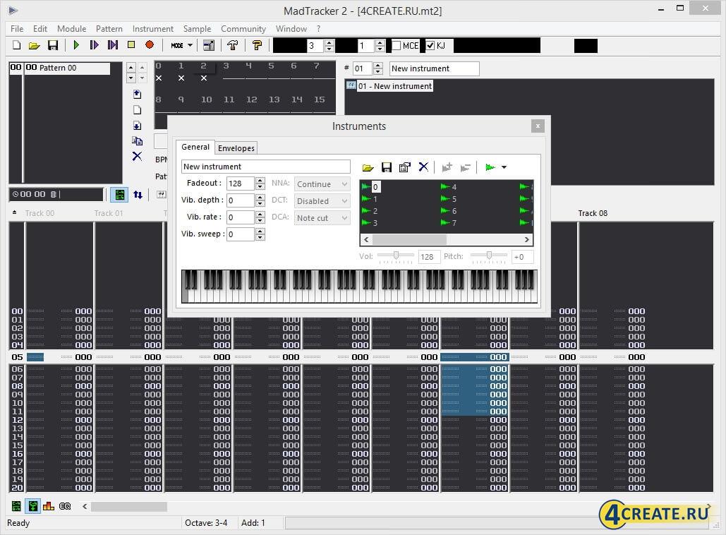 MadTracker 2.6 (Скриншот 2)