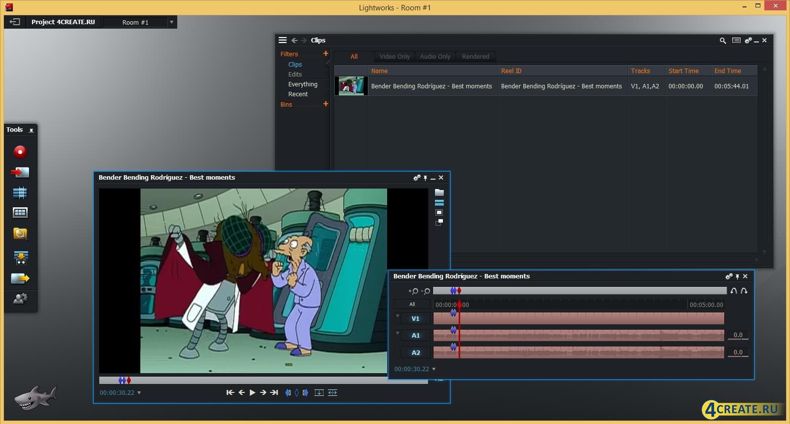 Lightworks 12 (Скриншот 3)
