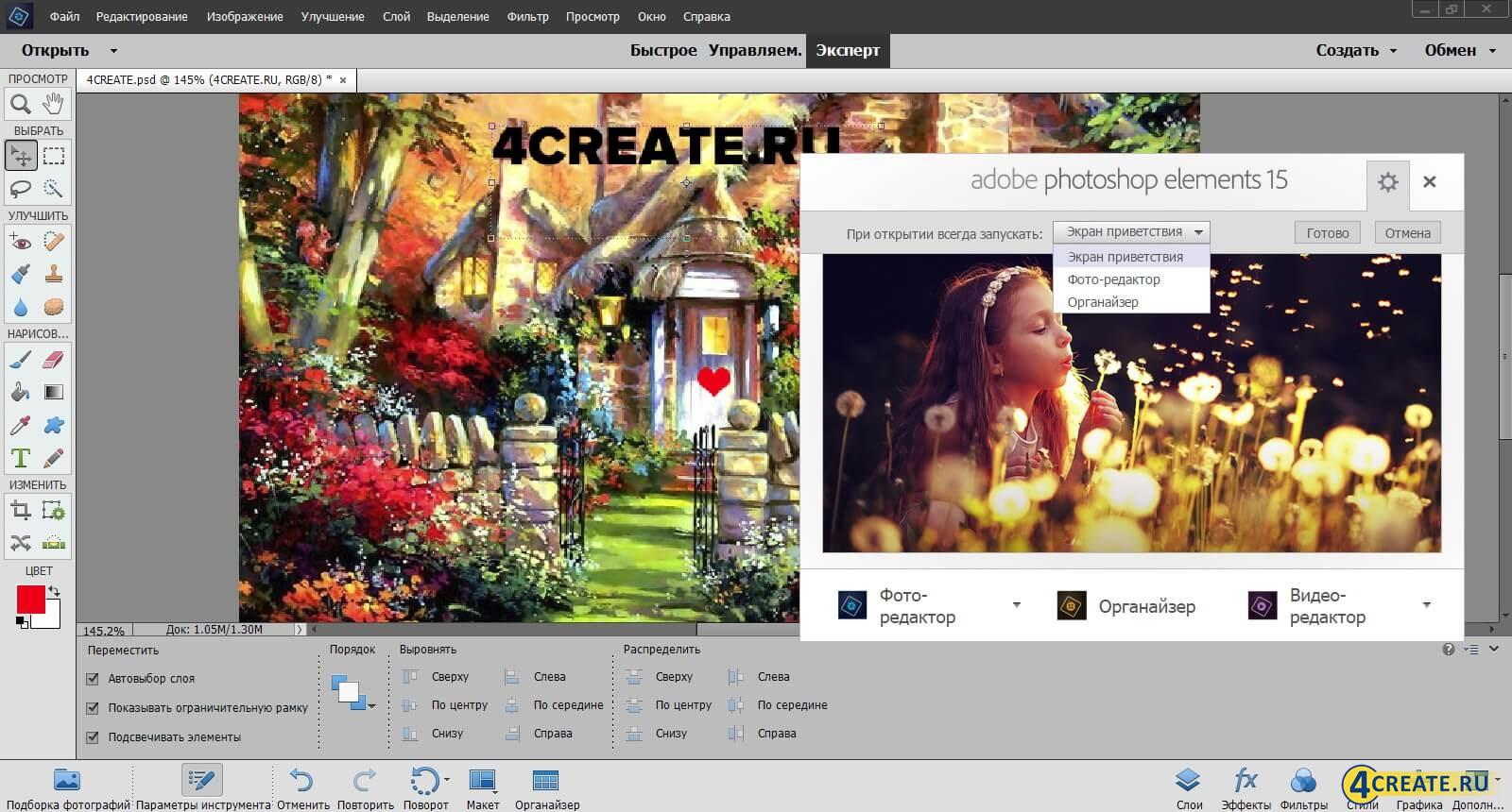 Photoshop Elements 15 (Скриншот 1)