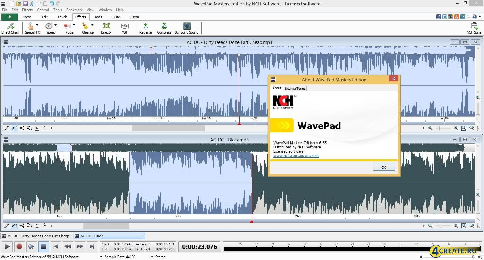 WavePad 6.55 (Скриншот 1)