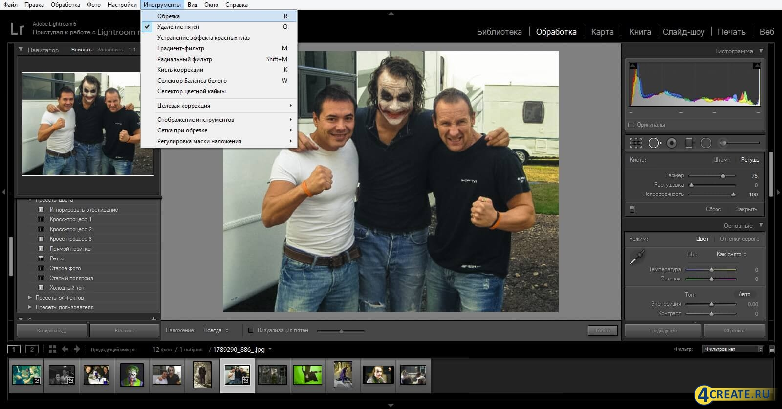 Adobe Lightroom CC (Скриншот 3)