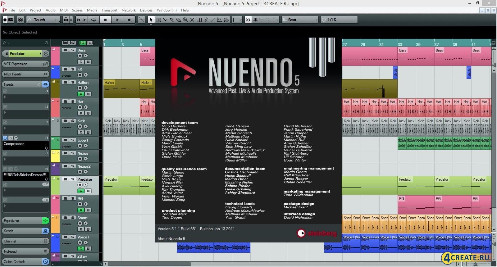 Nuendo 5 (Скриншот 1)