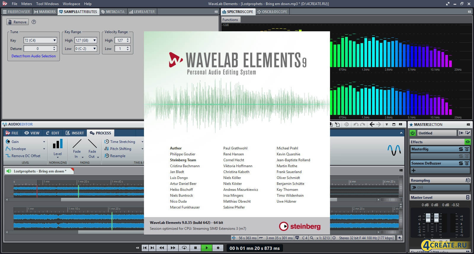 Wavelab 9.0 (Скриншот 1)