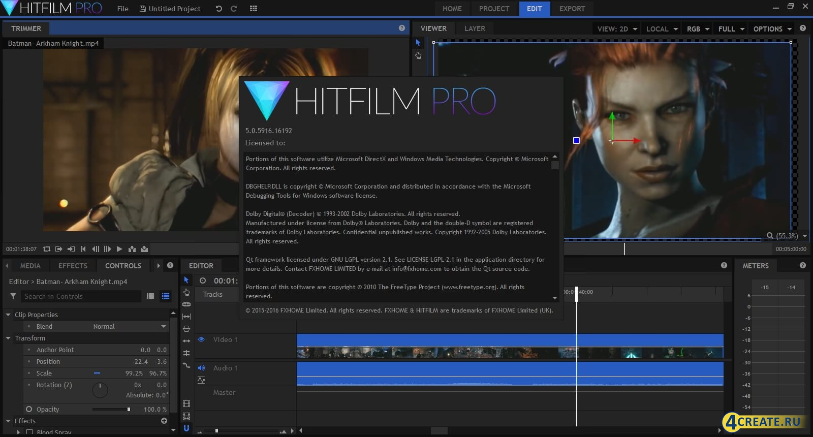 HitFilm Pro 5.0 (Скриншот 1)