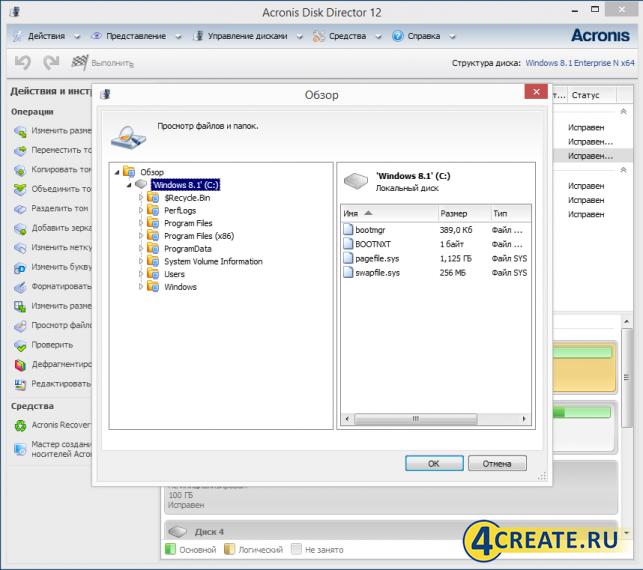 Acronis Disk Director 12 (Скриншот 1)