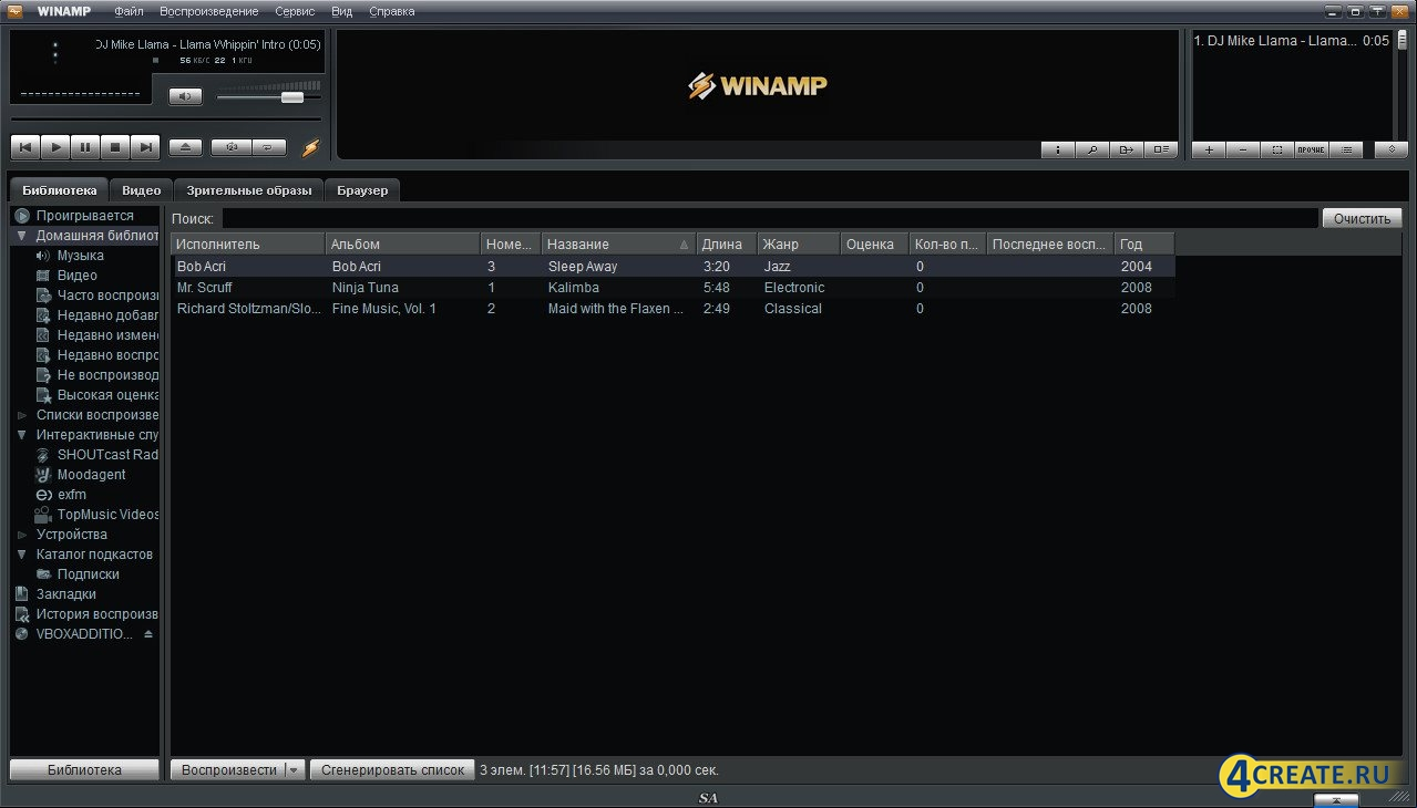Winamp Pro 5.6.5.3438 (Скриншот 4)