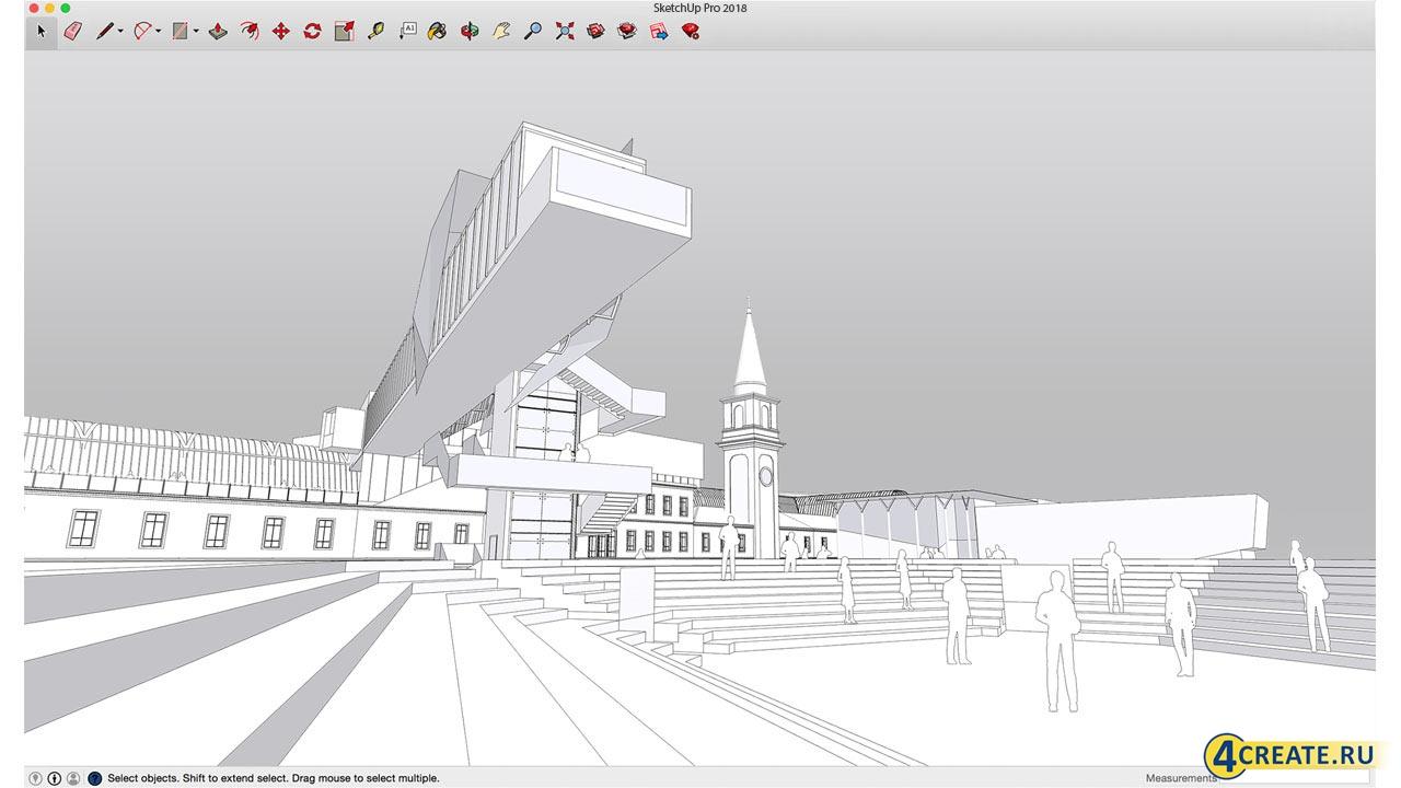 Google SketchUp 18 Pro (Скриншот 2)