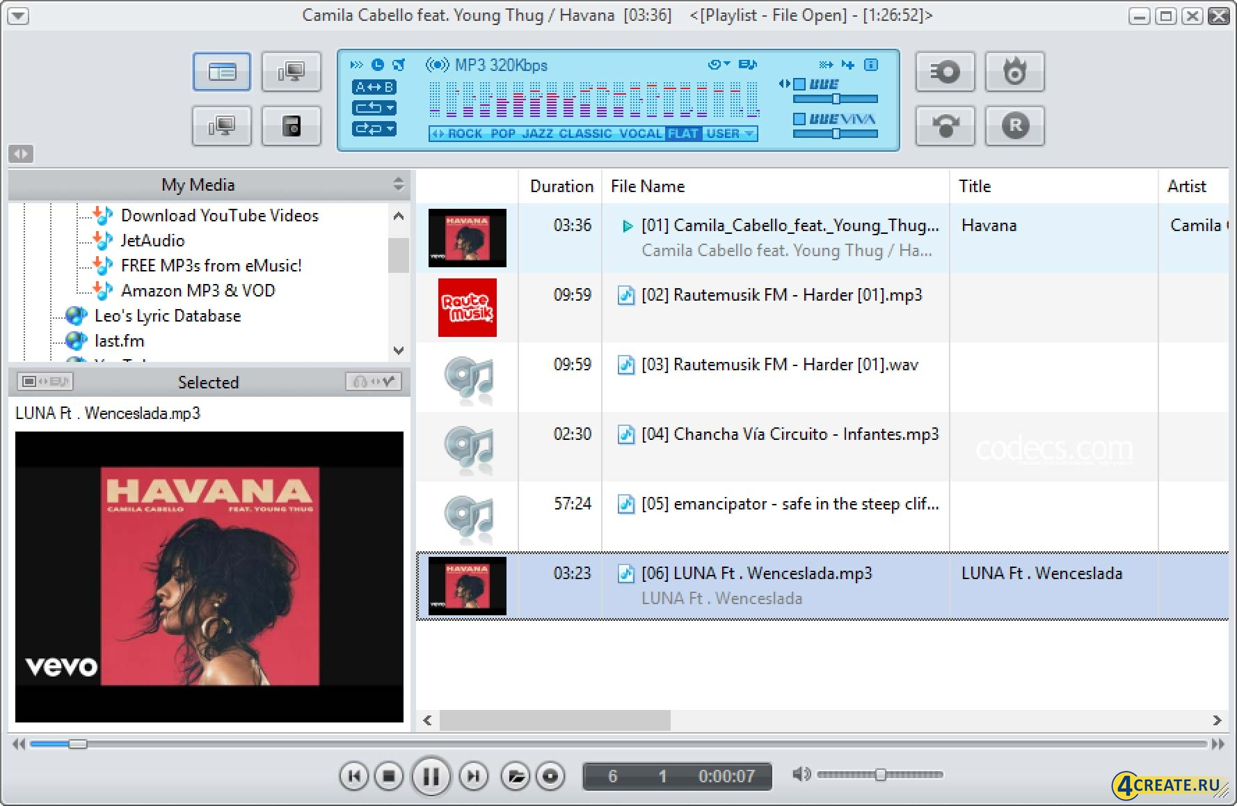 jetAudio 8.1.7 (Скриншот 1)