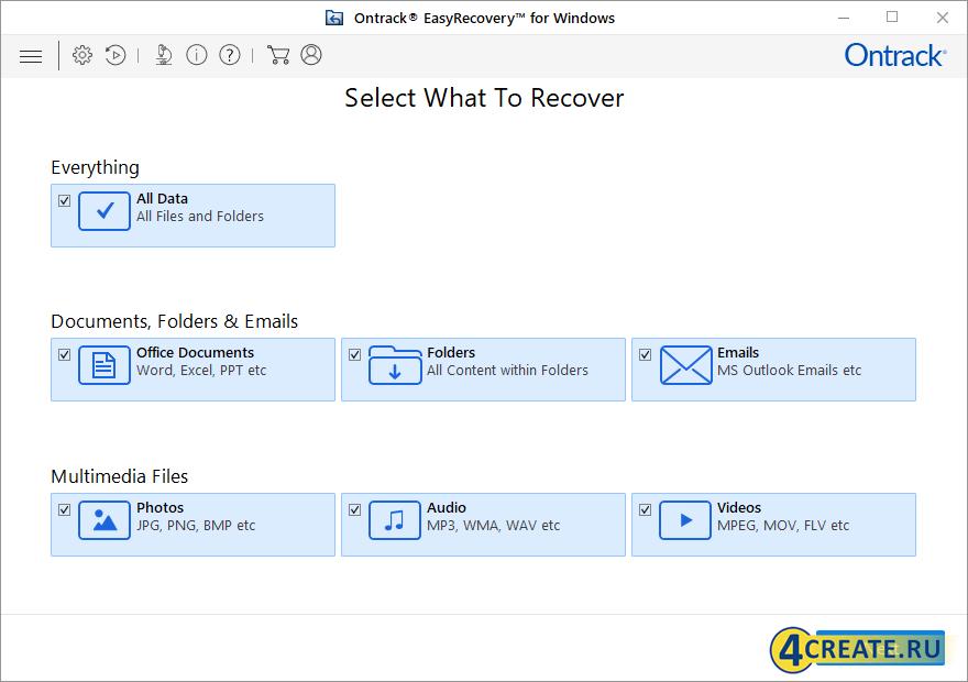 Ontrack EasyRecovery 13 (Скриншот 1)