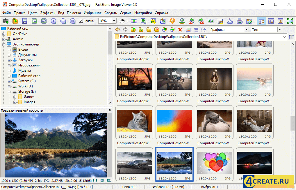FastStone Image Viewer 6.9 (Скриншот 1)