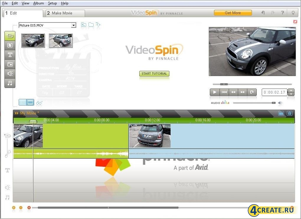 Pinnacle VideoSpin 2.0.0.669 (Скриншот 3)
