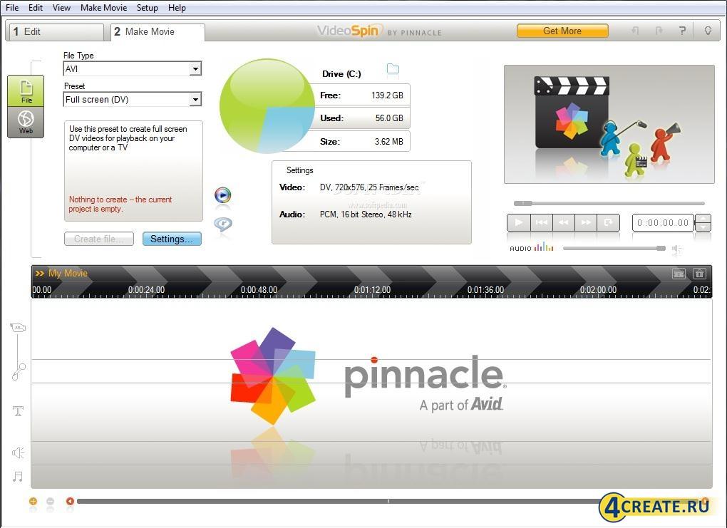 Pinnacle VideoSpin 2.0.0.669 (Скриншот 2)