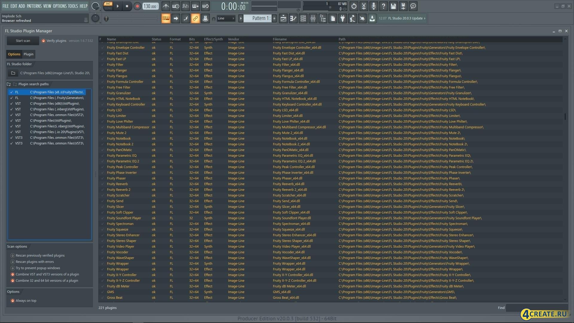 FL Studio 20.1.1.795 (Скриншот 1)