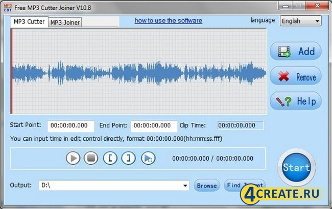 Free MP3 Cutter Joiner 4.7.1 (Скриншот 1)