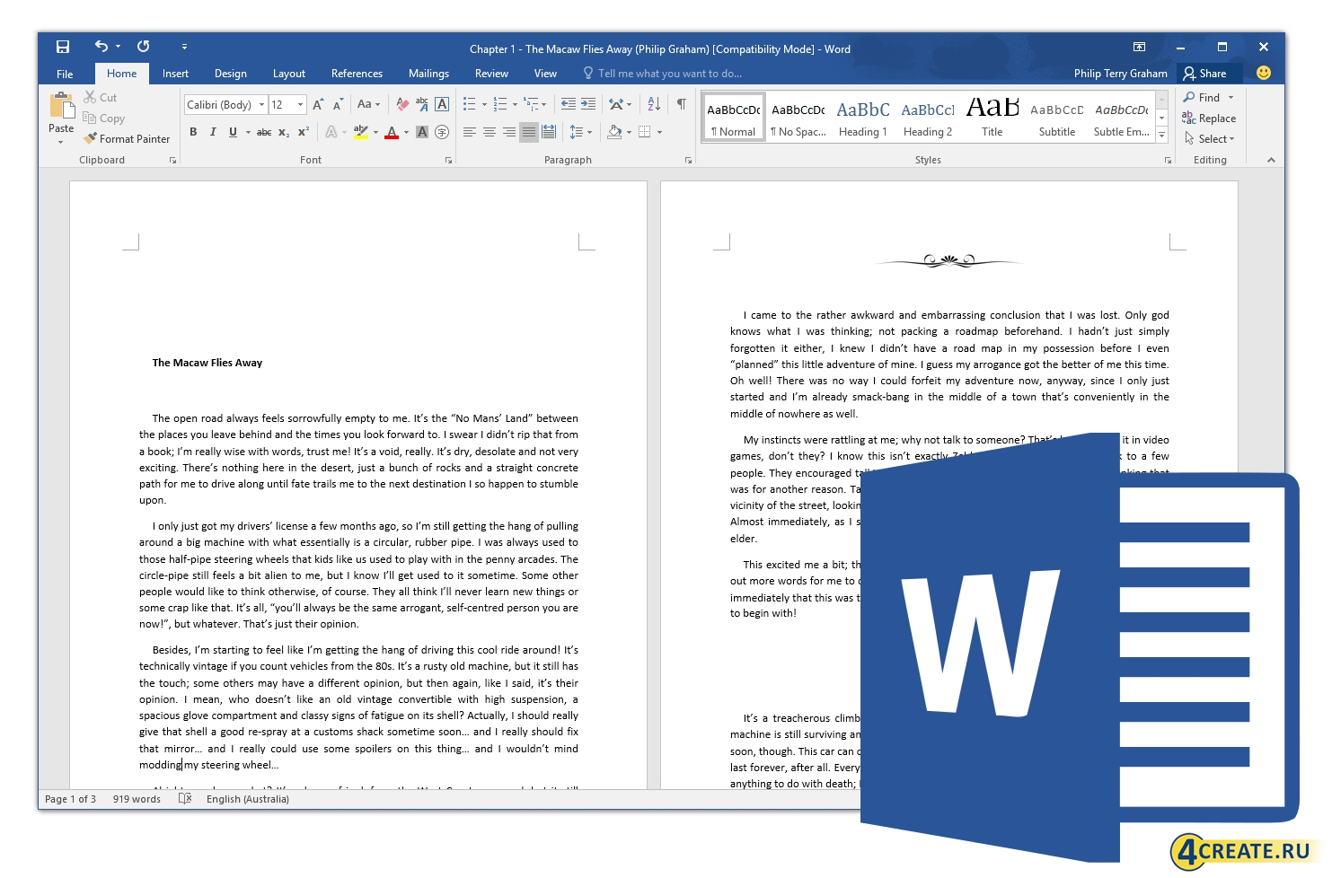 Microsoft Office Pro Plus 2016 v16.0.4266.1003 (Скриншот 1)
