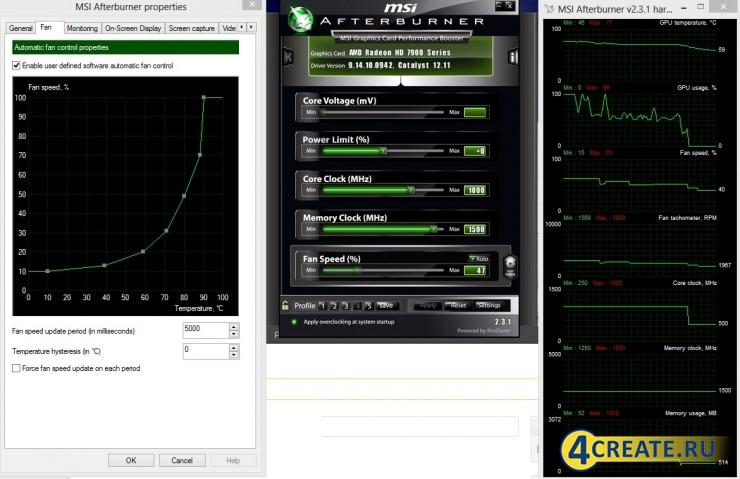 MSI Afterburner 4.6.3 (Скриншот 3)