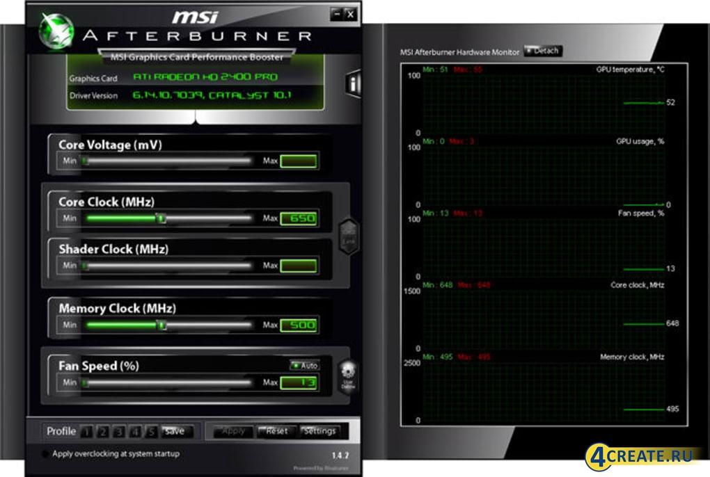 MSI Afterburner 4.6.3 (Скриншот 2)