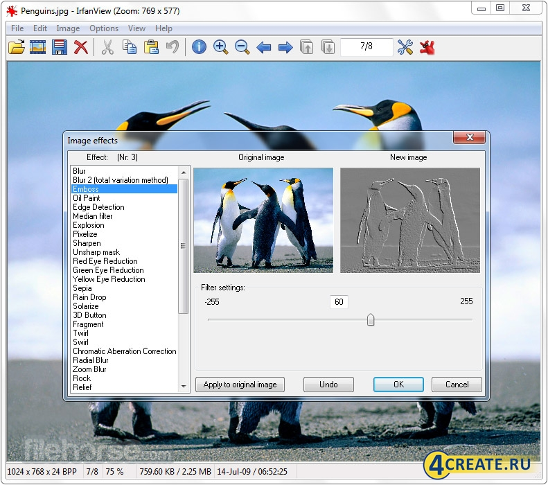 IrfanView 4.58 (Скриншот 3)